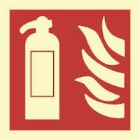 FIRE EXTINGUISHER GENERAL SYMBOL - ETTERLYSENDE PVC SKILT