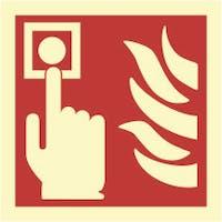 FIRE ALARM - ETTERLYSENDE PVC SKILT