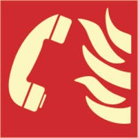 EMERGENCY PHONE - ETTERLYSENDE PVC SKILT
