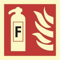 FIRE EXTINGUISHER, FOAM - ETTERLYSENDE PVC SKILT
