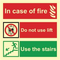 IN CASE OF FIRE USE STAIRS - ETTERLYSENDE PVC