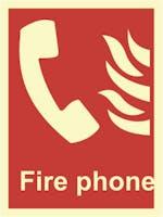 FIRE PHONE - ETTERLYSENDE PVC SKILT