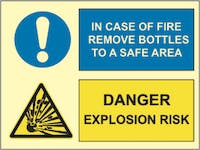 EXPLOSION RISK, IN CASE OF FIRE REMOVE BOTTLES TO A SAFE AREA - ETTERLYSENDE PVC