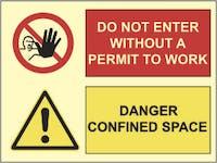 DANGER CONFINED SPACE, DO NOT ENTER - ETTERLYSENDE PVC
