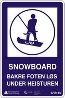 SNOWBOARD FOR KROK - ALUMINIUMKOMPOSITT SKILT