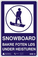 SNOWBOARD FOR SKÅL - ALUMINIUMKOMPOSITT