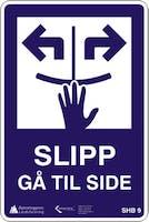 SLIPP KROKTREKK - ALUMINIUMKOMPOSITT SKILT