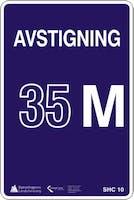 AVSTIGNING ANTALL METER SKILT