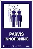 PARVIS INNORDNING - ALUMINIUM KOMPOSITT SKILT