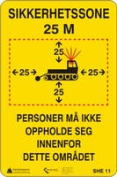 SIKKERHETSSONE - ALUMINIUM KOMPOSITT