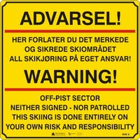 ADVARSEL WARNING - ALUMINIUMKOMPOSITT