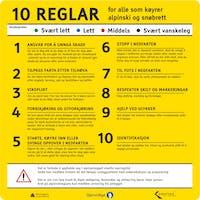 10 REGLAR FOR - ALUMINIUM KOMPOSITT SKILT