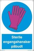 STERILE ENGANGSHANSKER PÅBUDT SKILT
