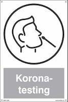 KORONA-TESTING - HVIT PVC SKILT