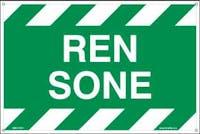 REN SONE - HVIT PVC SKILT