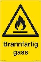 BRANNFARLIG GASS - 200x300mm