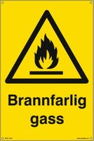 BRANNFARLIG GASS - GUL PVC