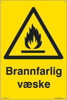 BRANNFARLIG VÆSKE - 300x450mm SKILT