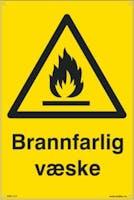 BRANNFARLIG VÆSKE - 400x600mm SKILT
