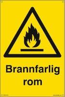 BRANNFARLIG ROM - GUL PVC