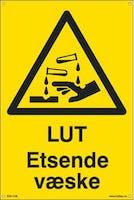 P-7070418100107  LUT ETSENDE VÆSKE - GUL PVC