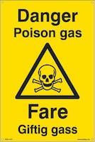 DANGER POISON GAS FARE -  300x450mm