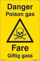 DANGER POISON GAS FARE - 200x300mm