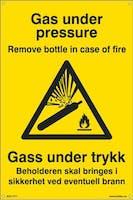 GAS UNDER TRYKK BEHOLDERE - 200x300mm SKILT