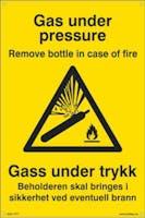 GAS UNDER TRYKK BEHOLDERE - 400x600mm SKILT
