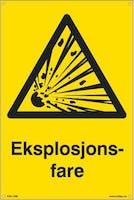 7070418100251  EKSPLOSJONSFARE - GUL PVC