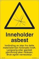 P-7070418100275  INNEHOLDER ASBEST - GUL PVC