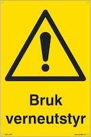 BRUK VERNEUTSTYR - 200x300mm SKILT