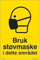 7070418100718  BRUK STØVMASKE I DETTE OM - GUL PVC
