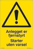 7070418100404  ANLEGGET FJERNSTYRT START - GUL PVC