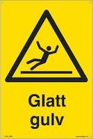 GLATT GULV -  400x600mm SKILT