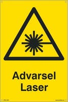 P-7070418100565 ADVARSEL LASER - GUL PVC