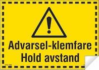 7070418100640  ADVARSEL-KLEMFARE HOLD AV - GUL FOLIE+LAMINAT