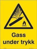 """7070418115590 """"GASS UNDER TRYKK"""" LIM BAKSIDE - GUL FOLIE+LAMINAT"""