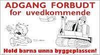 HOLD BARNA UNNA BYGGEPLASS - HVIT PVC SKILT