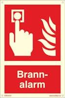 BRANNALARM - ETTERLYSENDE PVC - 200x300mm