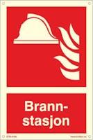 BRANNSTASJON - ETTERLYSENDE PVC - 200x300mm