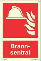 BRANNSENTRAL ETTERLYSENDE PVC SKILT