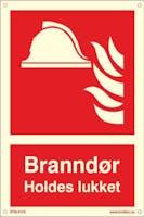7070418100985  BRANNDØR HOLDES LUKKET - ETTERLYSENDE PVC