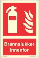 BRANNSLUKKER  ETTERLYSENDE PVC SKILT