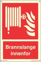 BRANNSLANGE ETTERLYSENDE PVC SKILT