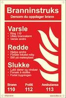 BRANNINSTRUKS NORSK - ETTERLYSENDE PVC - 200x300mm