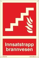 INNSATSTRAPP BRANNVESEN - ETTERLYSENDE PVC - 200x300mm