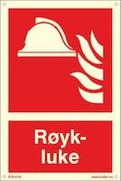 RØYKLUKE - ETTERLYSENDE PVC - 200x300mm