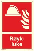 RØYKLUKE - ETTERLYSENDE PVC