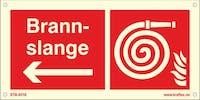SYM.BRANNSLANGE -PIL V - ETTERLYSENDE PVC -300x150mm